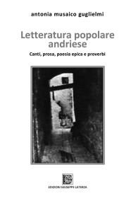 MUSAICO GUGLIELMI AntoniaLETTERATURA POPOLARE ANDRIESECanti, prosa, poesia epica e proverbi